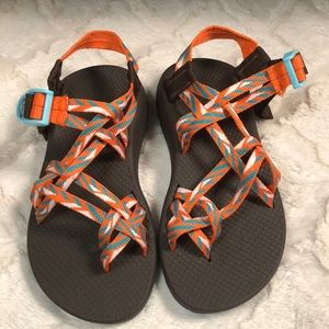 Chaco Womens Water Sandals Sz 6 Orange/Teal